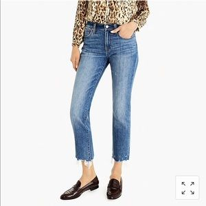 J.Crew Petite Boyfriend Jeans with Chewed Hem